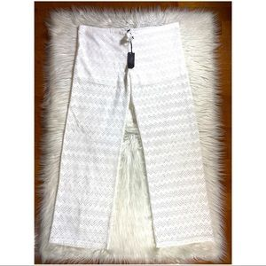 NEW honey Punch White mesh beach pants coverup Med